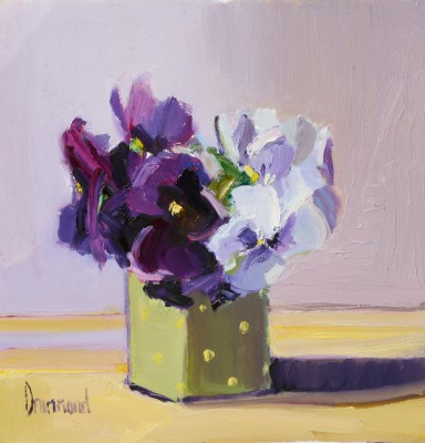 Pansies for Thought painting by artist Marion DRUMMOND
