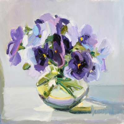 Scottish Artist Marion DRUMMOND - Pansies