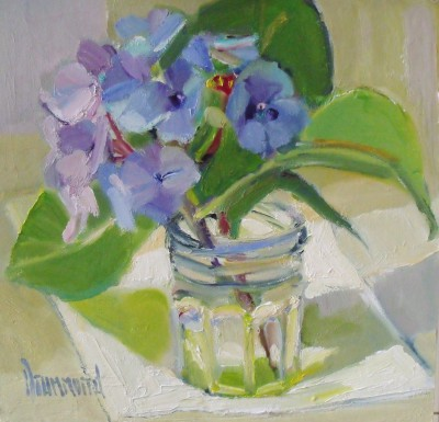 Hydrangea painting by artist Marion DRUMMOND