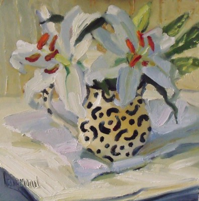 Scottish Artist Marion DRUMMOND - White Lilies