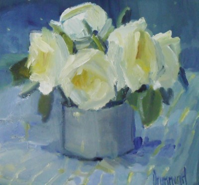 Small White painting by artist Marion DRUMMOND