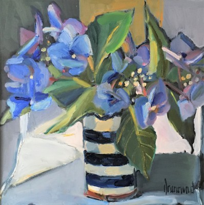 Hydrangeas painting by artist Marion DRUMMOND