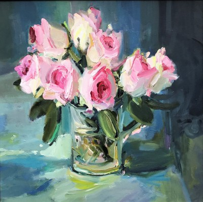 Scottish Artist Marion DRUMMOND - Roses and Crystal