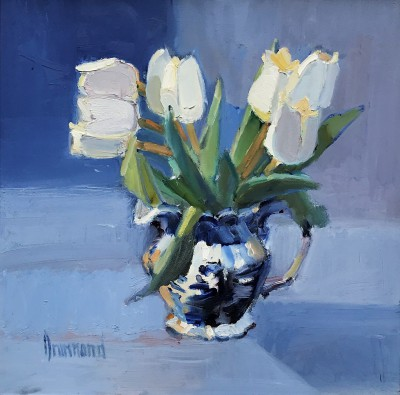 White Tulips painting by artist Marion DRUMMOND