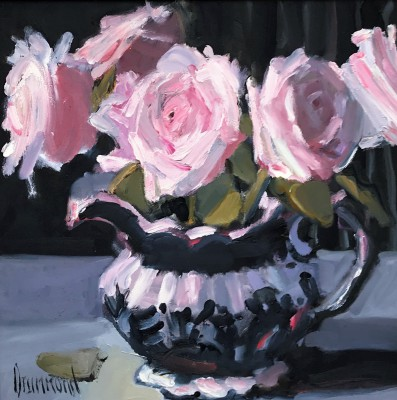 Pink Roses painting by artist Marion DRUMMOND