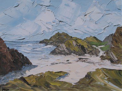 'Beach and Rocks, Iona' painting
