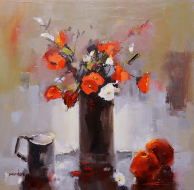 Scottish Artist Mary DAVIDSON - Still Life with Red & White