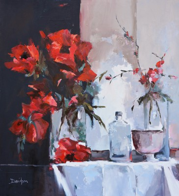 Scottish Artist Mary DAVIDSON - Still Life with Poppies
