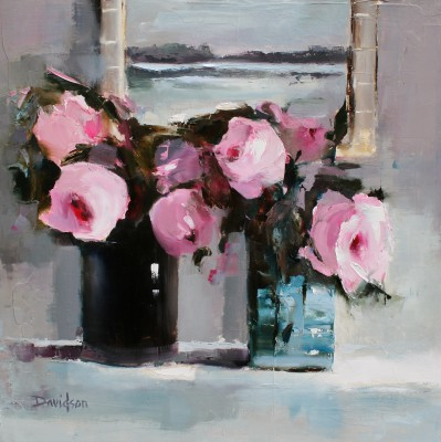 Mary DAVIDSON - Pink Roses in the Studio
