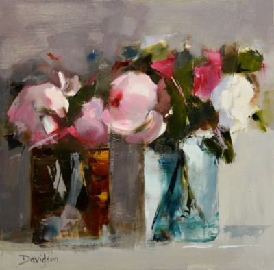 Scottish Artist Mary DAVIDSON - Peonies