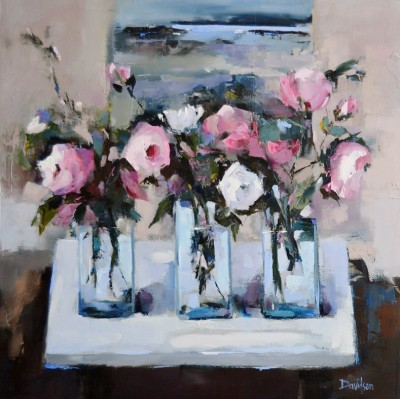 Scottish Artist Mary DAVIDSON - Roses and Work in Progress