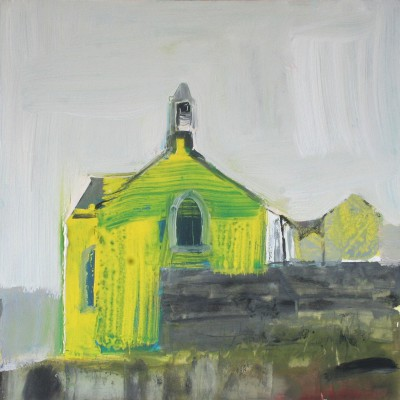 Portnahaven Parish Church, Islay painting by artist Mhairi McGREGOR