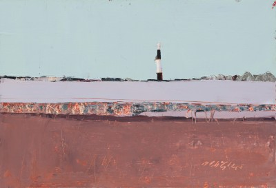 Spurn Head, East Yorkshire painting by artist Mhairi McGREGOR
