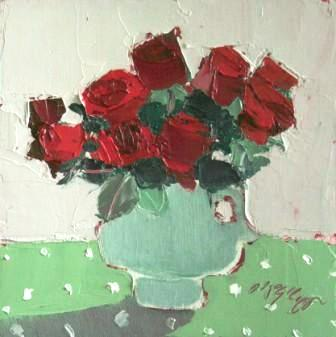 Scottish Artist Mhairi McGREGOR - Red Roses