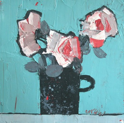 Scottish Artist Mhairi McGREGOR - Black Mug