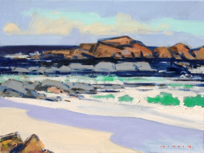 Scottish Artist Mike HEALEY - Iona Surf