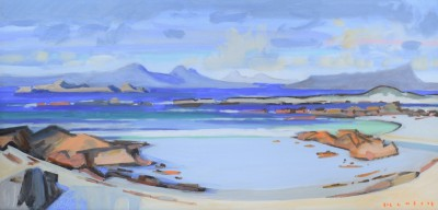 Ardnamurchan  Jura painting by artist Mike HEALEY