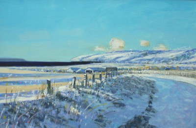 Scottish Artist Mike HEALEY - The Mull in Snow