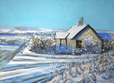 Scottish Artist Mike HEALEY - Home in the Snow