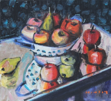 Scottish Artist Mike HEALEY - Reflections, Apples and Pears