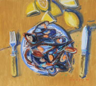 Scottish Artist Mike HEALEY - Moules et Citron