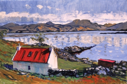 Scottish Artist Mike HEALEY - Red Croft