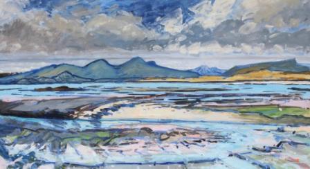 Scottish Artist Mike HEALEY - Low Tide Pinks, Ardnamurchan