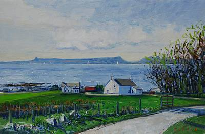 Scottish Artist Mike HEALEY - Rhum from Arisaig