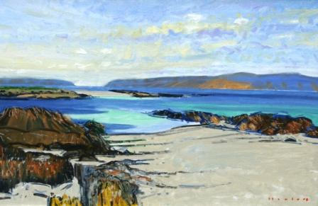 Scottish Artist Mike HEALEY - Monks Strand, Iona