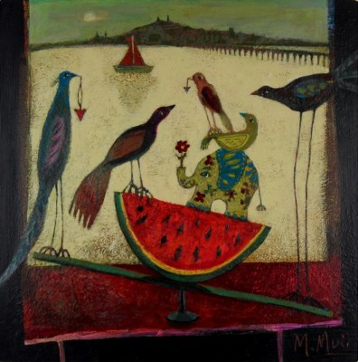 Scottish Artist Morag MUIR - See-Saw