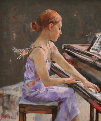 Scottish Artist Muriel BARCLAY - Treble Note