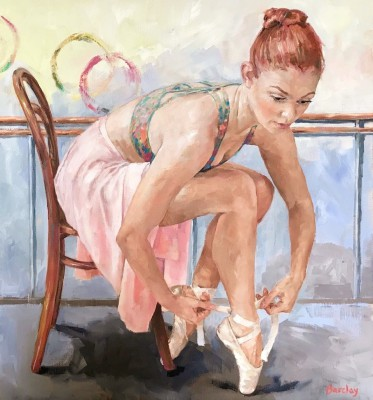 Securing Pointes painting by artist Muriel BARCLAY