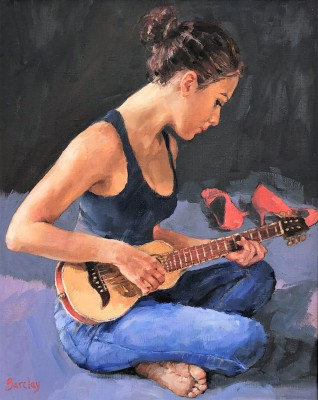 Scottish Artist Muriel BARCLAY - Blues and Shoes