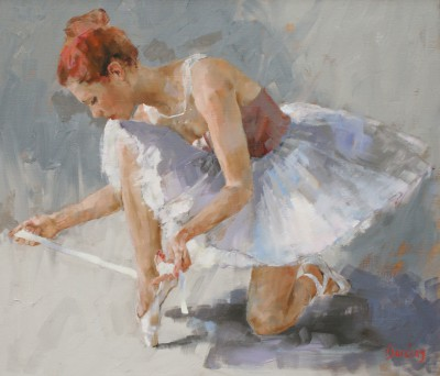 Scottish Artist Muriel BARCLAY - Lacing