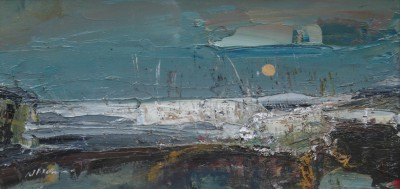 Moonlight over West Haven painting by artist Nael HANNA