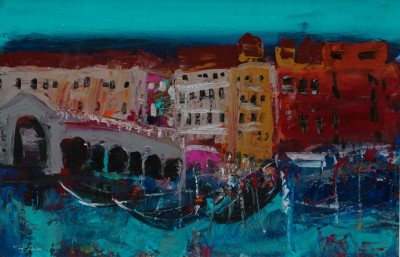 Venice painting by artist Nael HANNA