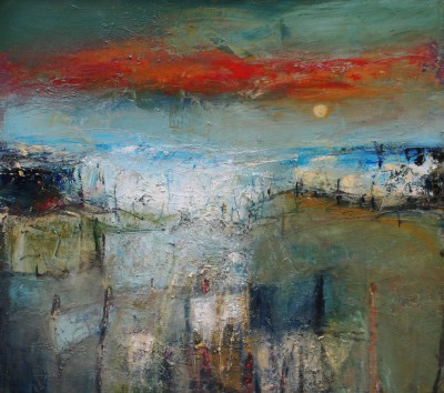 Scottish Artist Nael HANNA - Summer Sky East Neuk, Fife