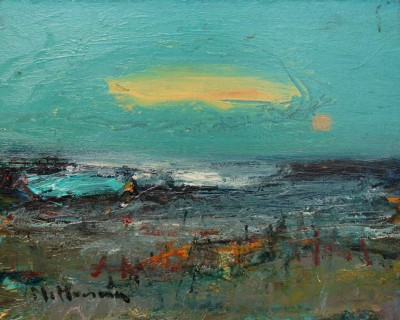 Evening at Angus Shoreline painting by artist Nael HANNA
