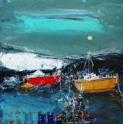 Scottish Artist Nael HANNA - East Neuk, Fife