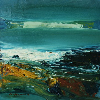 Scottish Artist Nael HANNA - North Sea Waters, Fife