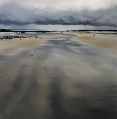 Scottish Artist Nicola WAKELING - Baleshare Beach, Low Tide