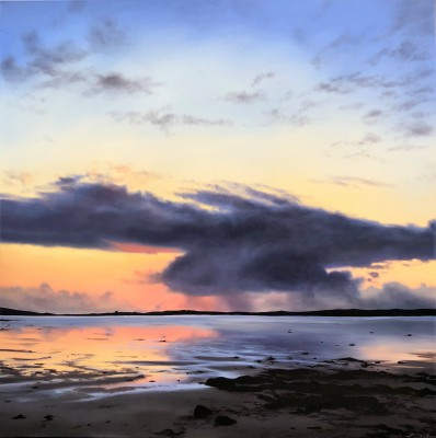 Scottish Artist Nicola WAKELING - Last Sunset for a While