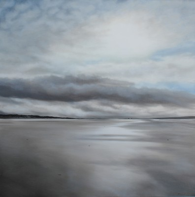 Scottish Artist Nicola WAKELING - Gloaming Walk, North Uist