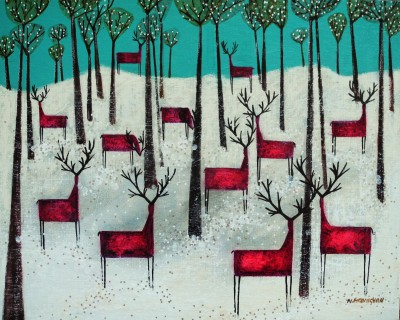 Scottish Artist Nikki MONAGHAN - Twilight Herd