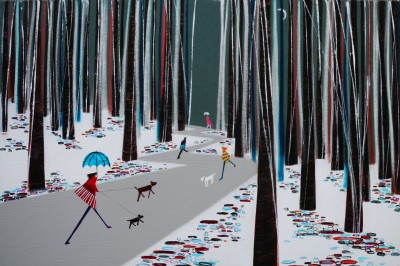 Scottish Artist Nikki MONAGHAN - Woodland Walkers