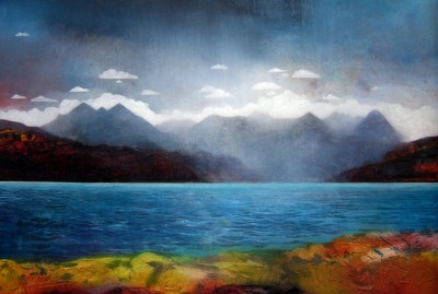 Scottish Artist Owen HENDERSON - Cullins from Applecross Bay