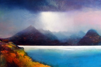 Scottish Artist Owen HENDERSON - Cloud Break over Skye