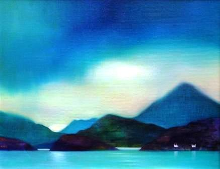 Scottish Artist Owen HENDERSON - Calmness Broken by Squall