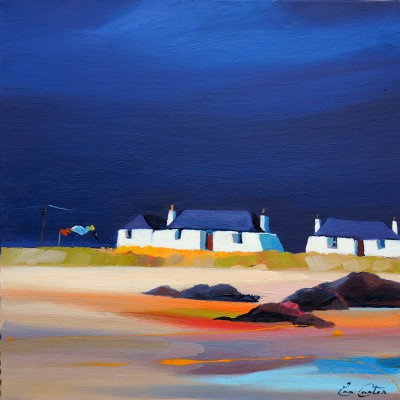 Scottish Artist Pam CARTER - Felters in Blue