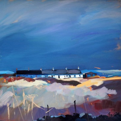 Scottish Artist Pam CARTER - Last Light On The Row